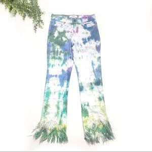 Pistola   Tallis Tye Dye Shredded Hem Jeans 26